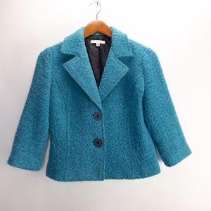 Cabi Womans  Boucle Wool Blend Jacket Blazer